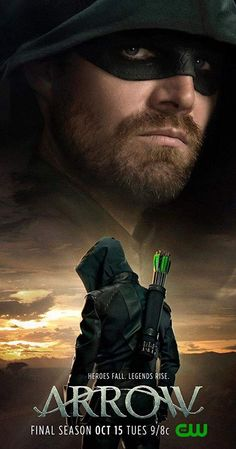 The CW's Arrow has nearly reached its climax, and the first promotional poster for season 8 has made its way online featuring Oliver Queen observing a significant sunset. Arrow Serie, Arrow Tv Series, Oliver Queen Arrow, Green Arrow Tv, Dc Comics Peliculas, Susanna Thompson, David Ramsey, Stephen Amell Arrow, Movies And Series