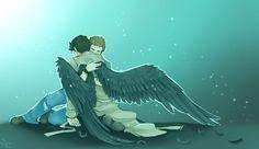 Dean and Castiel Fan Art: Destiel
