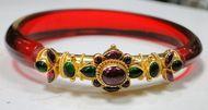 22 K solid gold bangle bracelet cuff interchangeable bangles