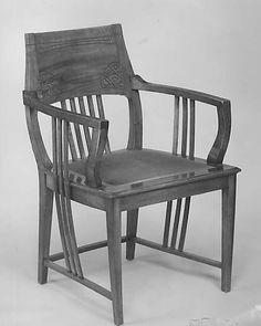 Armchair, 1898, Joseph Maria Olbrich