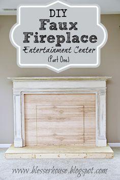 DIY Faux Fireplace Entertainment Center: Part One - Bless'er House