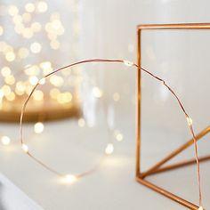 Guirlande Lumineuse à Piles 50 Micro LED sûr Câble Cuivre Déco Noël Extérieur | eBay
