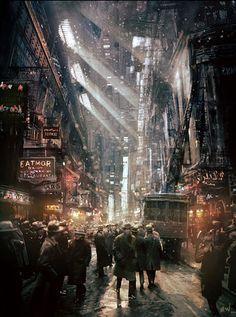 Fragments of a Hologram Dystopia Cyberpunk Aesthetic, Cyberpunk City, Arte Cyberpunk, Futuristic City, Steampunk City, Arte Steampunk, Arte Punk, Arte Sci Fi, City Painting