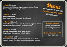 Le nouveau menu de la semaine à venir déguster au restaurant de l'hôtel Ibis #Luxembourg  Aéroport http://www.hotel-ibis-luxembourg.com/fr/restaurant.html