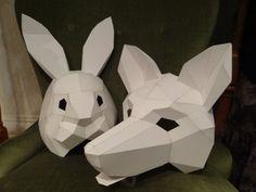 DIY Halloween Masks Animal How To Make Fox Mask Rabbit