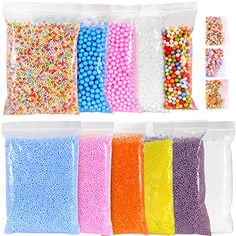 con Suitable For Men And Women Of All Ages In All Seasons Reasonable Micro-polystyrene Styrofoam Beads Small Foam Balls Slime Beads Set With 3 Slime Tools Fit For Slime Making Art Diy Craft, Bath & Shower