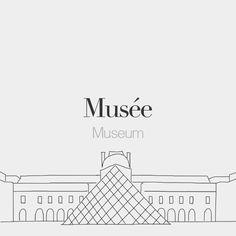 Musée (masculine word) | Museum | /my.ze/  Drawing: @beaubonjoli.