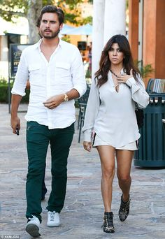 Going strong: Kourtney Kardashian and Scott Disick stepped out for a sushi dinner date in Calabasas, California, on Monday night