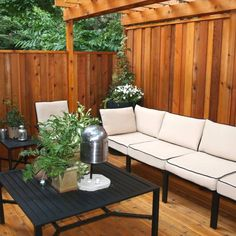 Do you want to have a private deck inside your house? or maybe you want to make your own deck on your home page for your use as a place to relax in the morning. Then you can find the inspiration of… Wood Deck Designs, Pergola Designs, Pergola Ideas, Diy Pergola, Backyard Ideas, Black Pergola, Pergola Kits, Backyard Designs, Landscaping Ideas