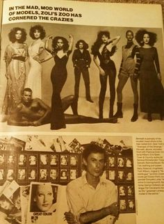MID 70S  ZOLI ARTICLE--A NICHE MARKET MODEL AGENCY WITH MORE HIGH FASHION TYPES THAN COMMERCIAL