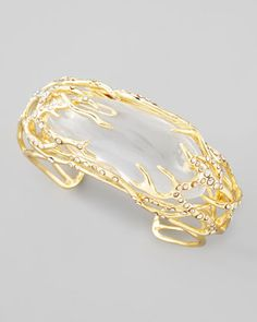 2013 SPRING TRENDS : APPARENTLY TRANSPARENT: Ophelia Vine Cuff Bracelet, Clear by Alexis Bittar at Bergdorf Goodman.