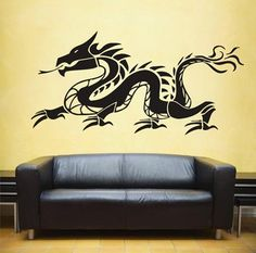 ZN Vinyl Removable Dragon mythical animal Wall Decal Stickers for Living Bedroom Children's Art Room Decoration Home Decor Cheap Wall Stickers, Wall Decor Stickers, Wall Art Decor, Teen Boys Room Decor, Teen Boy Rooms, Teen Bedding Sets, Animal Wall Decals, Dragon, Bedroom