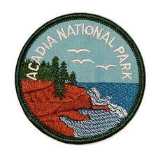 Acadia-National-Park-Travel-Souvenir-Iron-On-Badge-Applique-Patch