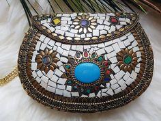 Handmade clutch tasche hippie boho bohemian vintage handgemacht fashion weihnachtsgeschenk l
