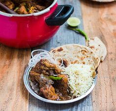 The best dhaba style chicken curry recipe! Spicy, hot, fragrant curry made with ground spices, onions and tomatoes, and perfect for family lunch or dinner.