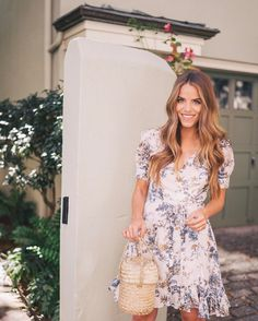 "15.4k Likes, 183 Comments - Julia Engel (Gal Meets Glam) (@juliahengel) on Instagram: ""This pretty blue & white floral dress is now on sale for under $75 - more on galmeetsglam.com today…"""