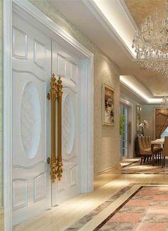 15 Interior Design Ideas of Luxury Living Rooms Classic Interior, Luxury Interior, Beautiful Interiors, Luxury Living, Door Design, My Dream Home, Living Room Designs, Living Rooms, Luxury Homes