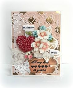Layered Love card using Inspired by Stamping sentiment and Butterfly