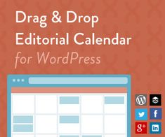 Content Marketing Editorial Calendar For WordPress