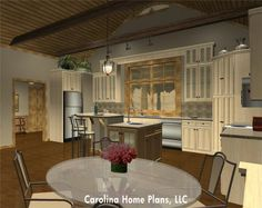 Small house plan with open floor plan layout - SG-1799-AA