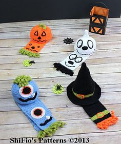 226-Halloween Hats Scarves Crochet Pattern #226 pattern by ShiFios Patterns