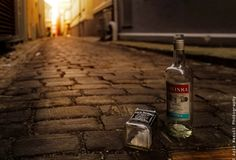 Hey man stand up! by Aziz Nasuti on Vodka Bottle, Water Bottle, Hey Man, Poland Springs, Stand Up, Still Life, Street Photography, City, Get Back Up