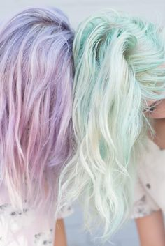 Pastel lavender and mint
