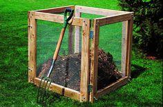 DIY Compost Bin. birdsandblooms.com