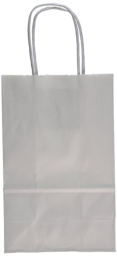 Creative Hobbies 24 White Small Paper Gift Handle Bags Approx. 5.25' x 3' x 8.5' Size Shopper Wedding Wholesale Lot *** Remarkable product available now. : Wrapping Ideas