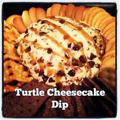 Turtle Cheesecake Dip