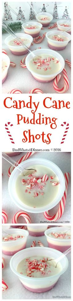 Your Christmas party will be Ho Ho Ho not Ho Ho Hum with these adult Candy Cane Pudding Shots. Your favorite Christmas treat with a nice little peppermint kick. Smooth and creamy!