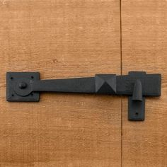 Rustic Hand-Forged Iron Gate Rim Latch - Hardware