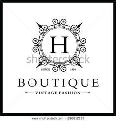 H Letter logo, Monogram design elements, line art logo design. Beautiful Boutique Logo Designs, Business sign, Restaurant, Royalty, Cafe, Hotel, Heraldic, Jewelry, Fashion, Wine. Vector illustration