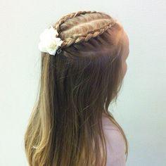 Simple half open style #hairstyles #braid #braidstyles #dutchbraid #braidsforgirls #letti #lettikampaus #kampaus