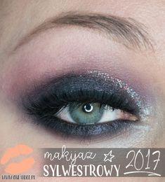 Makijaż sylwestrowy 2017   fioletowe smoky eye brokatowa kreska Eye Makeup Tips, Smokey Eye Makeup, Eyeliner, Make Up, Eyes, Beautiful, Unique, Eye Liner, Makeup