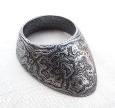 Handmade damascus steel ARCHER RING For Archery ,Thumb Ring Hand Forge