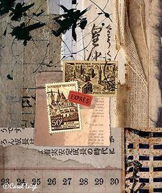 Textured collage ..... X