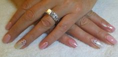 Gel ll manicure with Pearl glitter