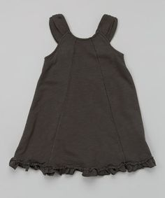 Look what I found on #zulily! Charcoal Ruffle A-Line Dress - Toddler & Girls #zulilyfinds