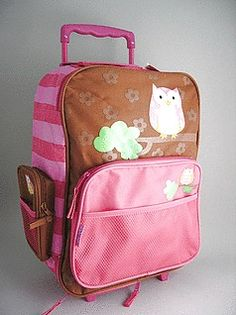 Buy Personalized kids rolling luggage trolley - owl -