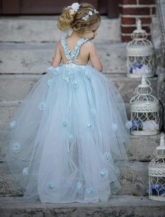 Wedding & Formal Occasion Kind-Hearted White Rose Petal Flower Girl Dress Pageant Toddler Sizes 12-18 Months 2-12 Years
