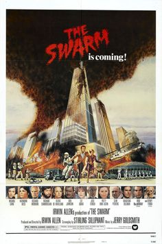 Directed by Irwin Allen. With Michael Caine, Katharine Ross, Richard Widmark, Richard Chamberlain. A huge swarm of deadly African bees spreads terror over American cities by killing thousands of people. Horror Movie Posters, Cinema Posters, Horror Movies, Horror Film, Creepy Movies, Retro Posters, Poster Vintage, Katherine Ross, Disaster Movie