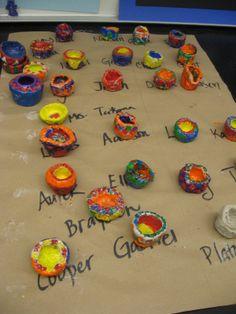 Great way to organize pottery by name! Jamestown Elementary Art Blog: Kindergarten