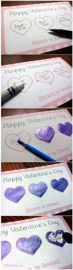 Romantic Scratch-Off Cards