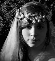 Eve  White Rose and Pearls Flower Crown by paulasbartlion on Etsy, $150.00