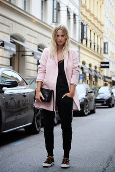 all black and pink