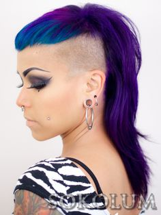 Beautiful purple and blue hair by @Heather