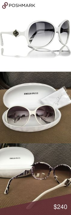 Classic Emilio Pucci Design Sunglasses Stunning Emilio Pucci sunglasses. I only wore them once, they're in excellent condition, they look like new. I didn't even unpack the cleaning clothing it came with. Emilio Pucci Accessories Sunglasses