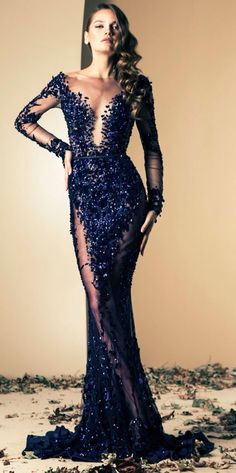 Lebanese fashion designer Ziad Nakad unveiled his new Haute Couture fall/winter 2013 collection of gorgeous evening dresses and gowns. Elegant Dresses, Pretty Dresses, Sexy Dresses, Prom Dresses, Formal Dresses, Wedding Dresses, Dress Prom, Formal Prom, Sexy Gown
