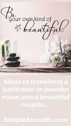 Bathroom Wall Decor, Master Bathroom, Bathroom Ideas, Vinyl Decor, Vinyl Wall Decals, Modern Bathroom Design, Bathroom Interior Design, Austin House, Lettering Design